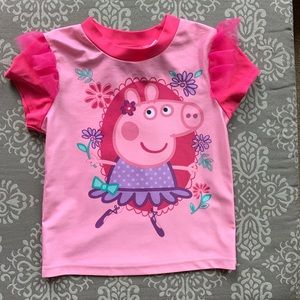 Euc Peppa Pig Rash Guard Size 3T
